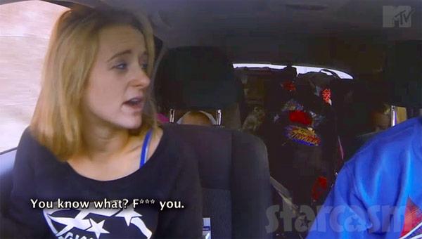 Leah Calvert Jeremy argument in the car