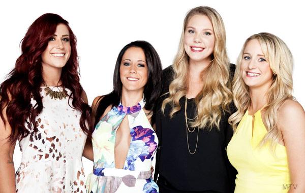 Teen Mom 2 Season 6 cast photo 2015 Chelsea Houska Jenelle Evans Kailyn Lowry Leah Messer
