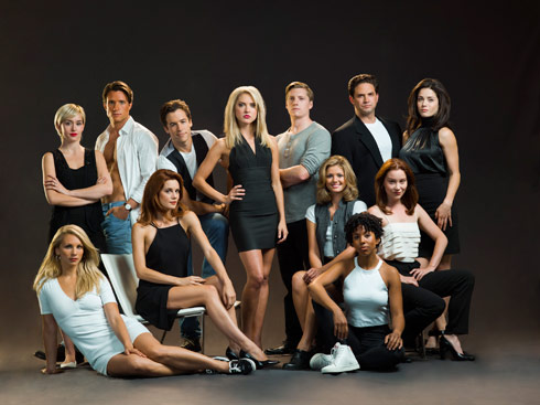 The Unauthorized Melrose Place Lifetime movie cast photo - click to enlarge