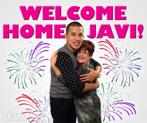 Barbara Babs Evans and Javi Marroquin hugging