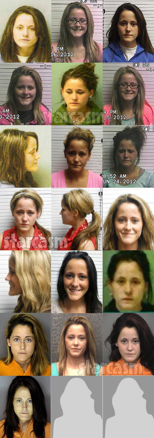 Every Jenelle Evans ug shot photo to date as of August 2015