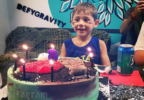 Jenelle Evans' son Jace's 6th birthday party with a zombie theme