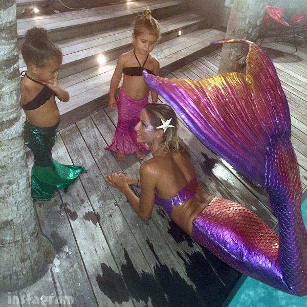 North West Penelope Disick mermaid