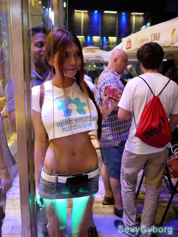 SexyCyborg LED miniskirt