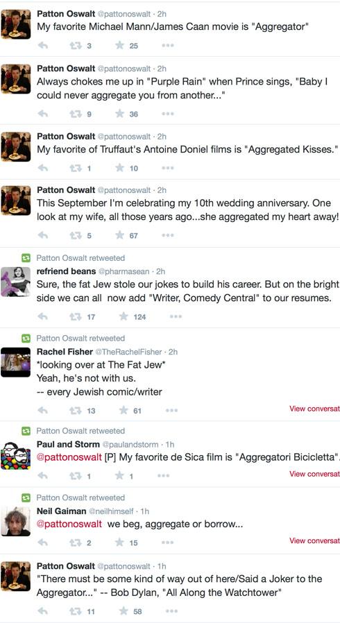 The Fat Jewish Patton Oswalt tweets 2