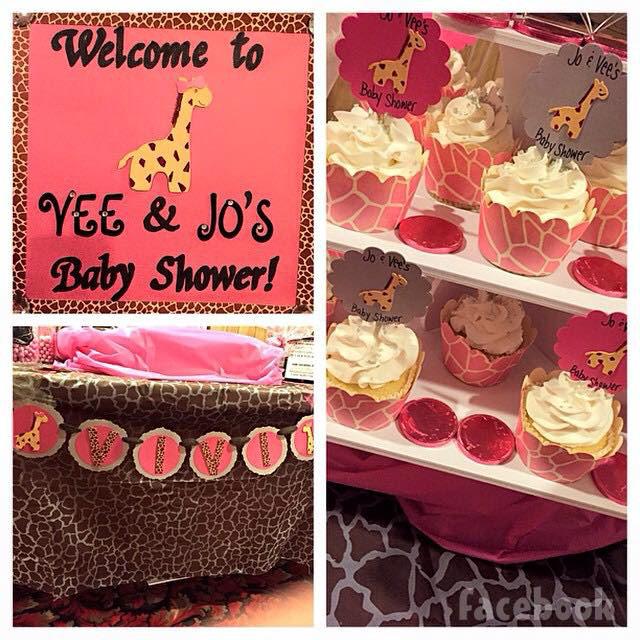 Vetzabe Vee Torres baby shower decorations