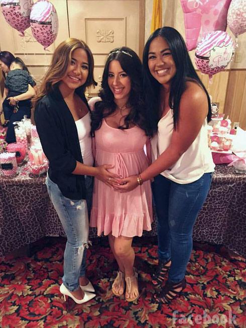 Vetzabe Vee Torres baby shower friends