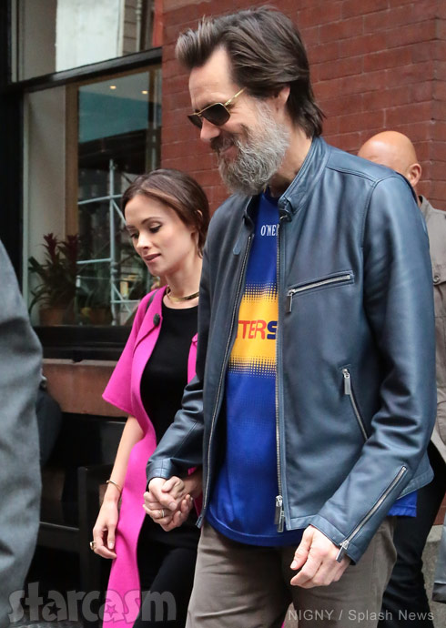 Cathriona White with Jim Carrey 2015