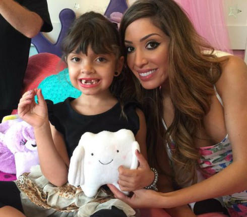 Farrah Abraham and Sophia Abraham Tooth Fairy