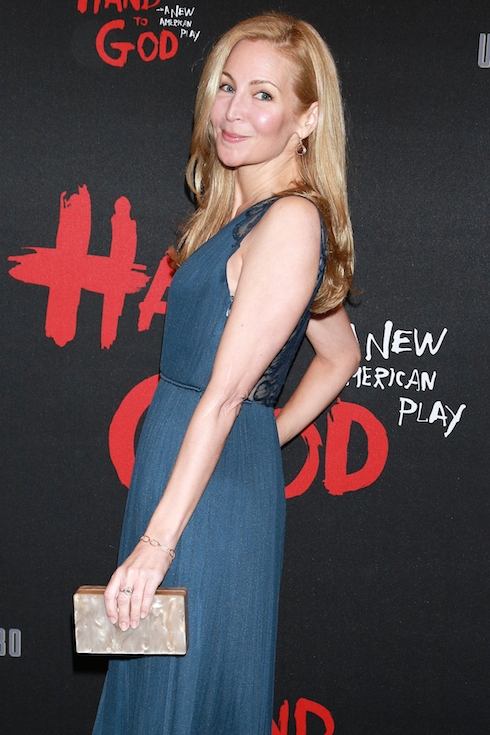 Opening night of the new Broadway play 'Hand to God' at the Booth Theatre - Arrivals Featuring: Jennifer Westfeldt Where: New York City, New York, United States When: 07 Apr 2015 Credit: Joseph Marzullo/WENN.com