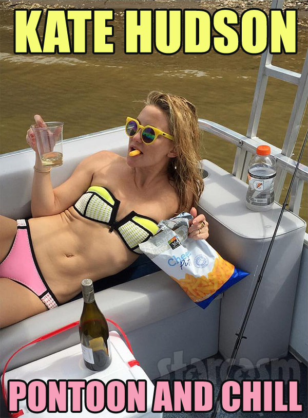Kate Hudson pontoon and chill