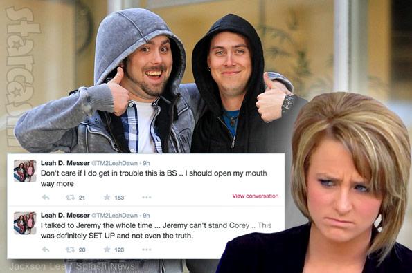 Leah Messer Jeremy Calvert Corey Simms tweets
