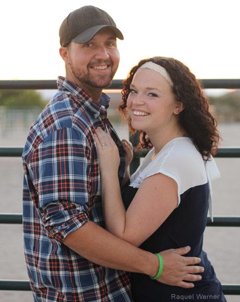 Maddie Brown and Caleb Brush engagement photo