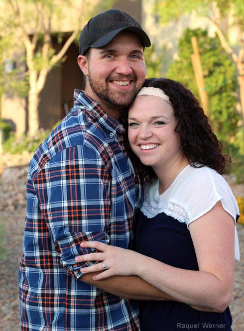 Maddie Brown and fiance Caleb Brush
