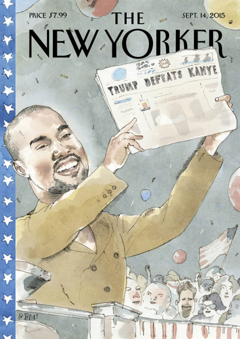 New Yorker Kanye West 2020 Vision cover