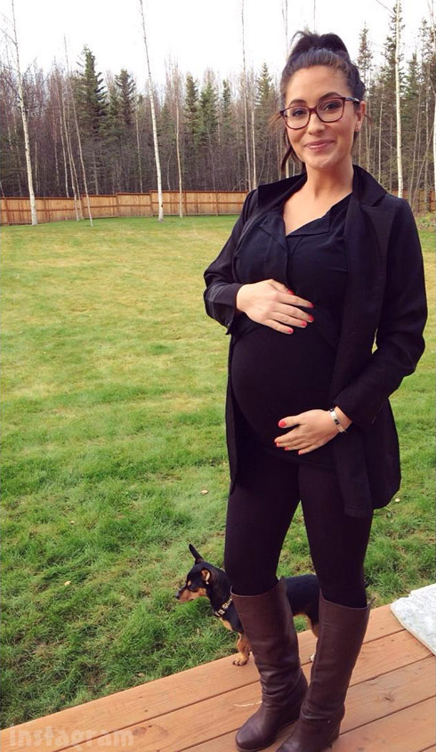 Bristol Palin pregnant baby bump