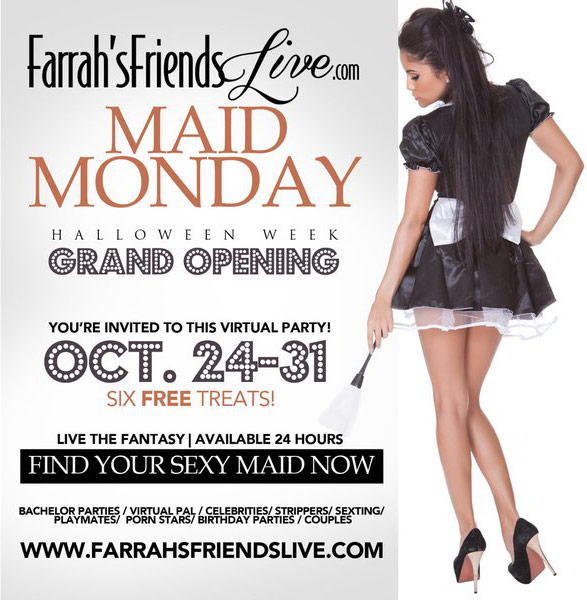 Farrah's Friends Live Maid Monday