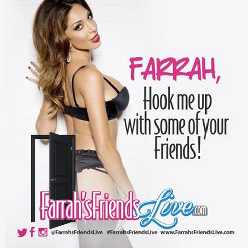 Farrah Abraham web cam website Farrah's Friends Live ad