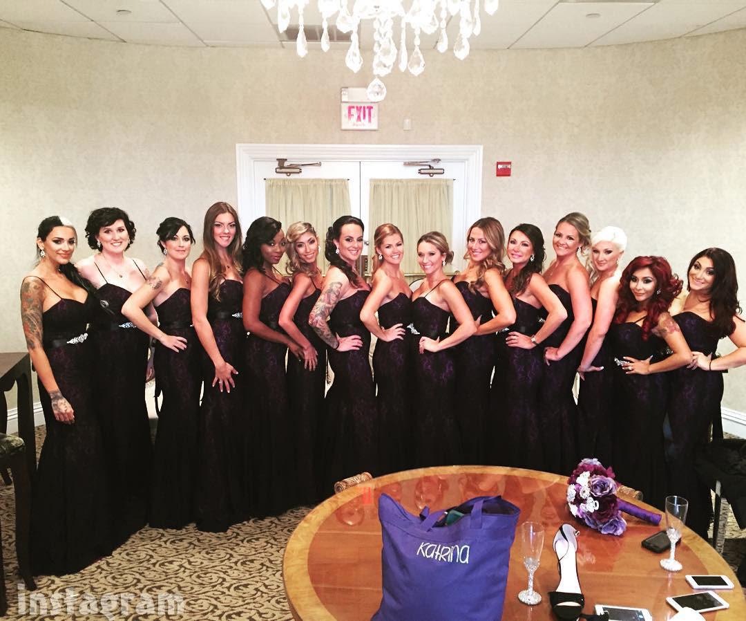 JWoww wedding bridesmaids
