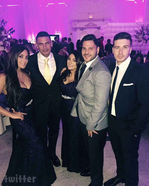 JWoww wedding Jersey Shore Reunion Sammi Sweetheart, Pauly D, Deena Nicole Cortese, Ronnie Magro and Vinny Guadagnino