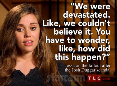 Jessa Duggar quote about the Josh Duggar scandal