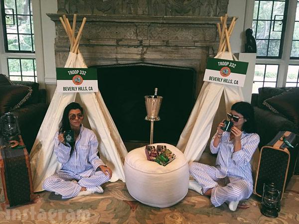 Kourtney Kardashian Kylie Jenner teepees