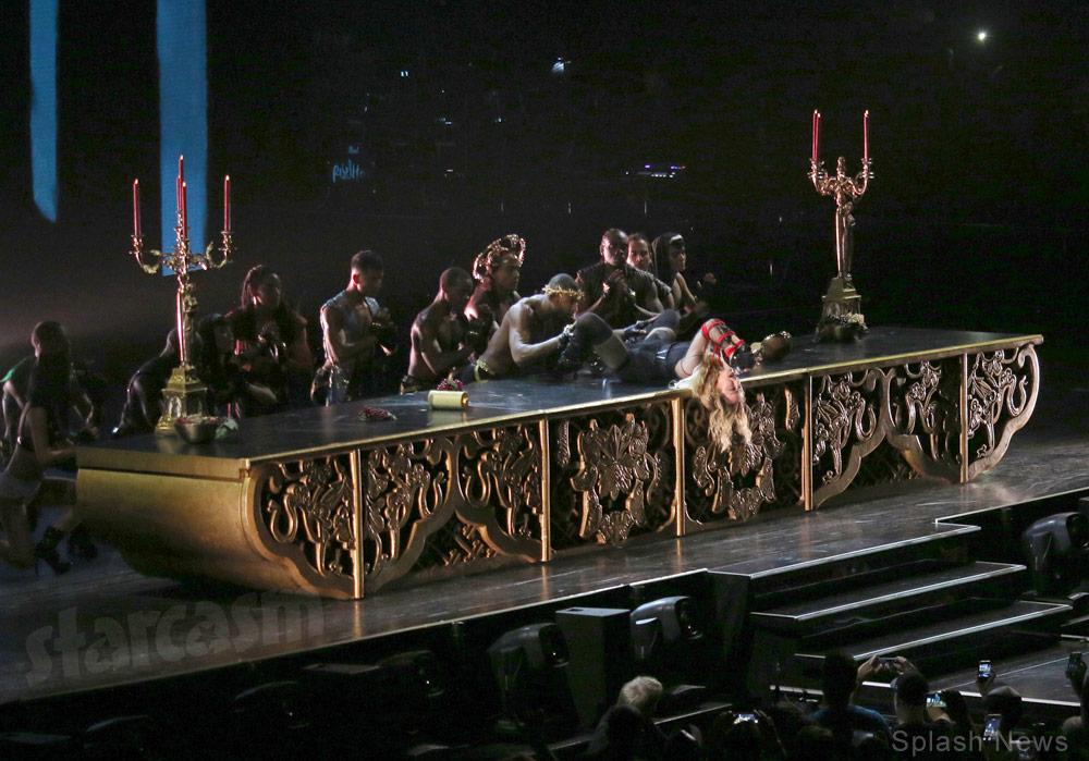 Madonna Last Supper table dancing Rebel Heart Tour