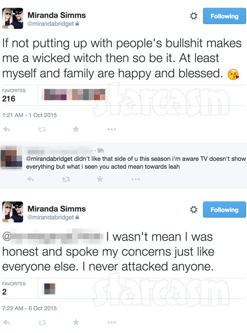 Teen Mom 2 Miranda Simms angry tweets