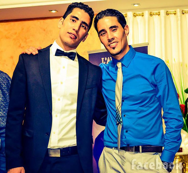 Mohamed Jbali and his brother in Tunisia 2015