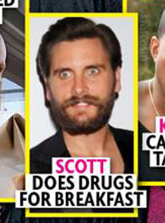 Scott Disick does drugs for breakfast Star magazine