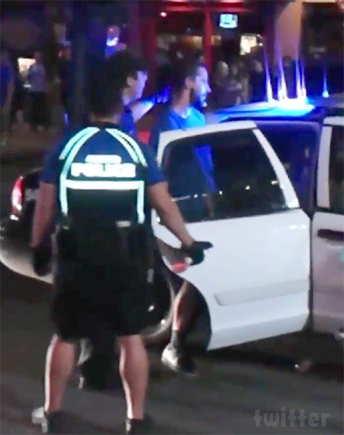 Shia LaBeouf being arrested in Austin Texas