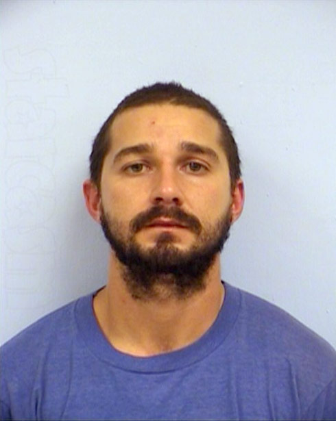 Shia LaBeouf arrested Austin mug shot photo