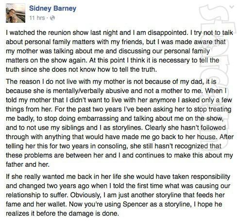 Sidney Barney Facebook L