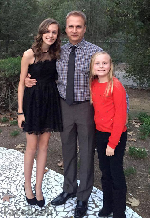 Tamra's ex Simon Barney with daughters Sidney and Sophia