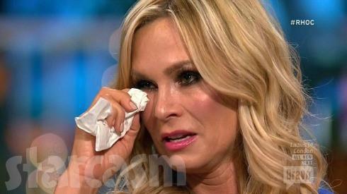 Tamra crying