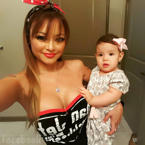 Tila Tequila with daughter Izzy