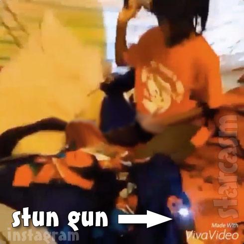 Young Thug son stun gun video screen cap