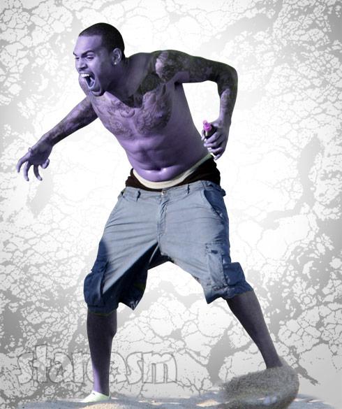 Chris Brown purple sizzurp