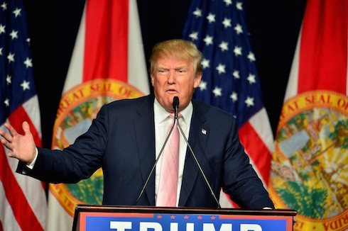 Republican presidential hopeful Donald Trump speaks at a campaign rally at the Trump National Doral Miami Featuring: Donald Trump Where: Miami, Florida, United States When: 23 Oct 2015 Credit: JLN Photography/WENN.com