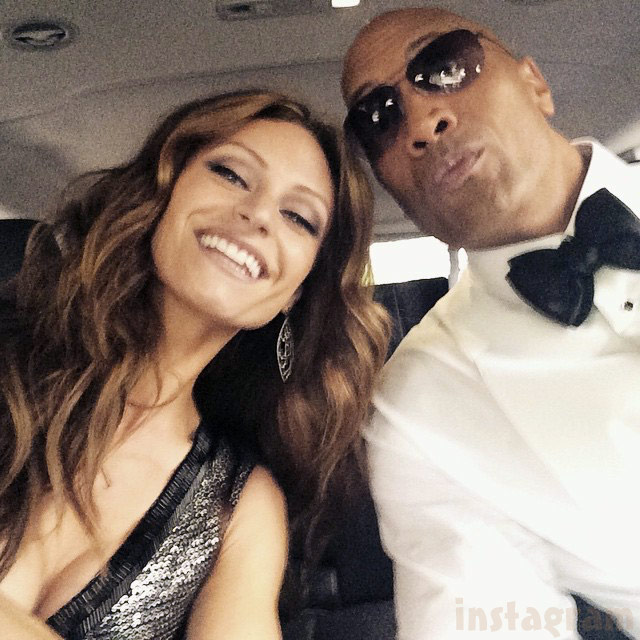 Dwayne Johnson and Lauren Hashian together