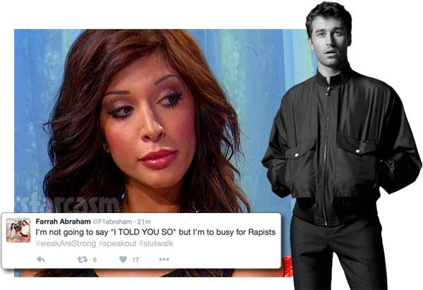 Farrah Abraham James Deen rape allegations