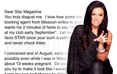 JWoww atacks Star magazine over drinking while pregnant story