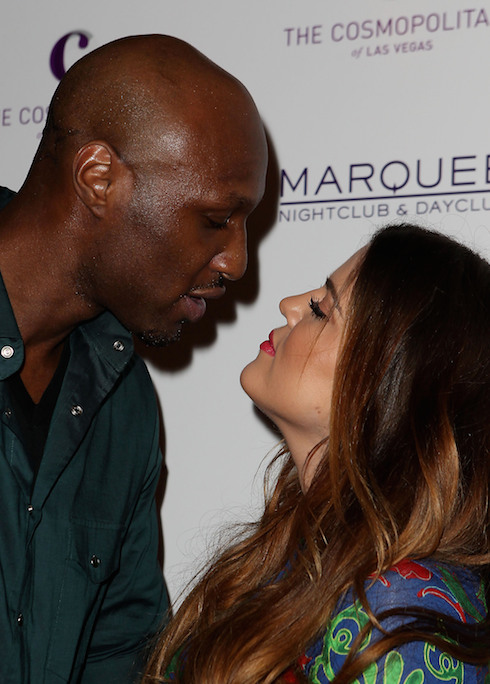 Lamar Odom and Khloe Kardashian Kim Kardashian celebrates her birthday at Marquee Nightclub at Cosmopolitan Las Vegas, Nevada - 22.10.11 Featuring: Lamar Odom and Khloe Kardashian Where: United States When: 22 Oct 2011 Credit: WENN
