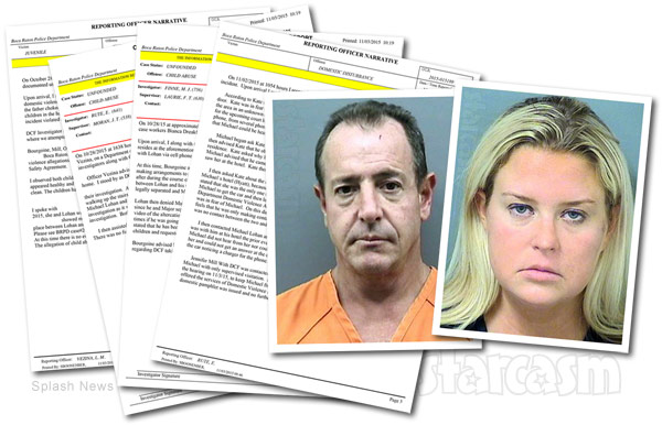 Michael Lohan Kate Majors police reports custody