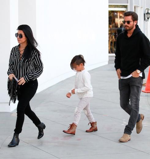 Kourtney Kardashian and Scott Disick take their son Mason to RH Contemporary Art