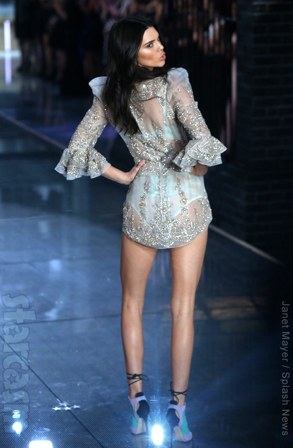 Victoria's Secret Kendall Jenner rear view
