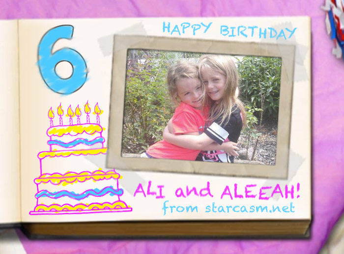Teen Mom 2 Ali and Aleeah sixth birthday scrapbook