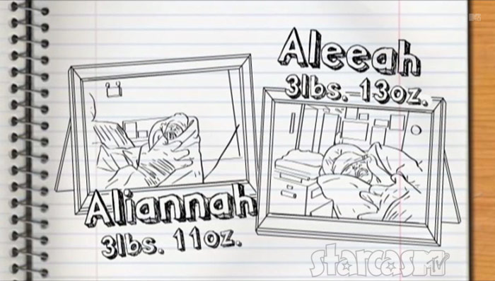 Ali and Aleeah drawing 16 and Pregnant