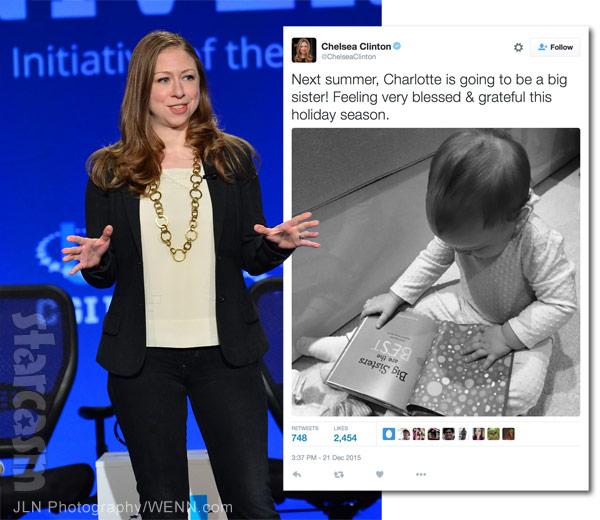 Chelsea Clinton pregnant again