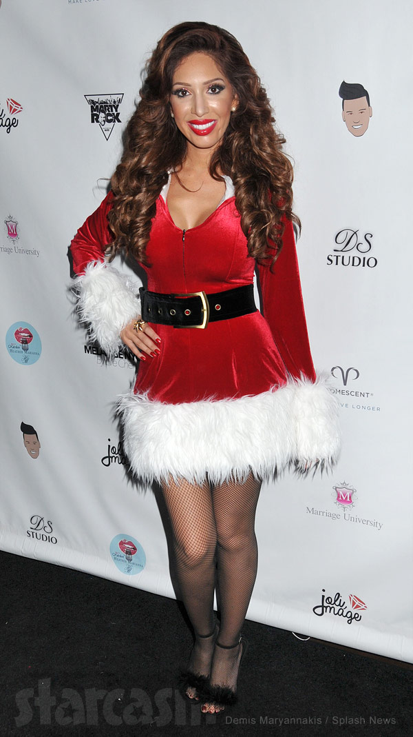 Farrah Abraham sexy Santa Claus dress